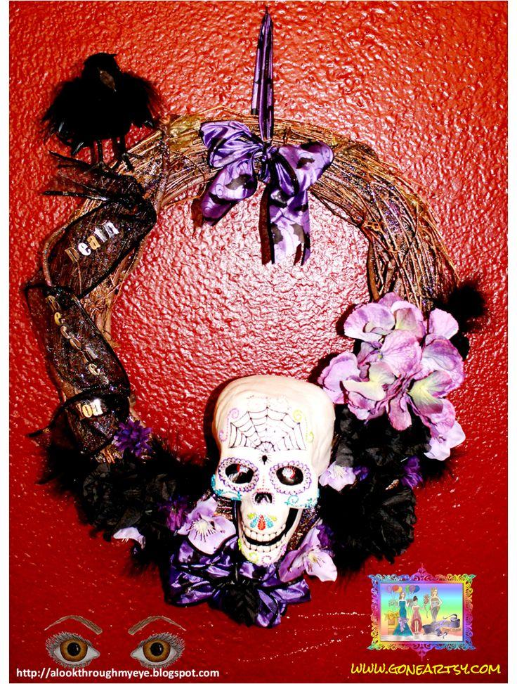 Sugar Skull Wreath | Voodoo dolls | Pinterest