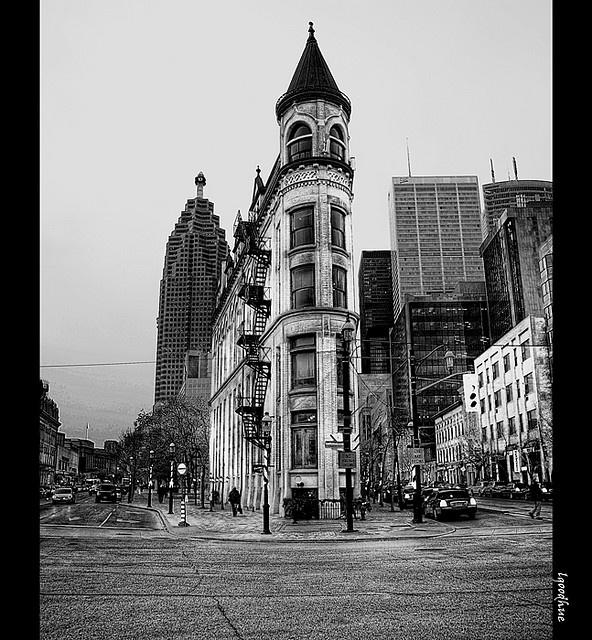 vintage toronto. flatiron building.