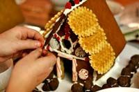Step by step instructions to make a gingerbread house (including gingerbread and icing recipes, and printable house design templates)
