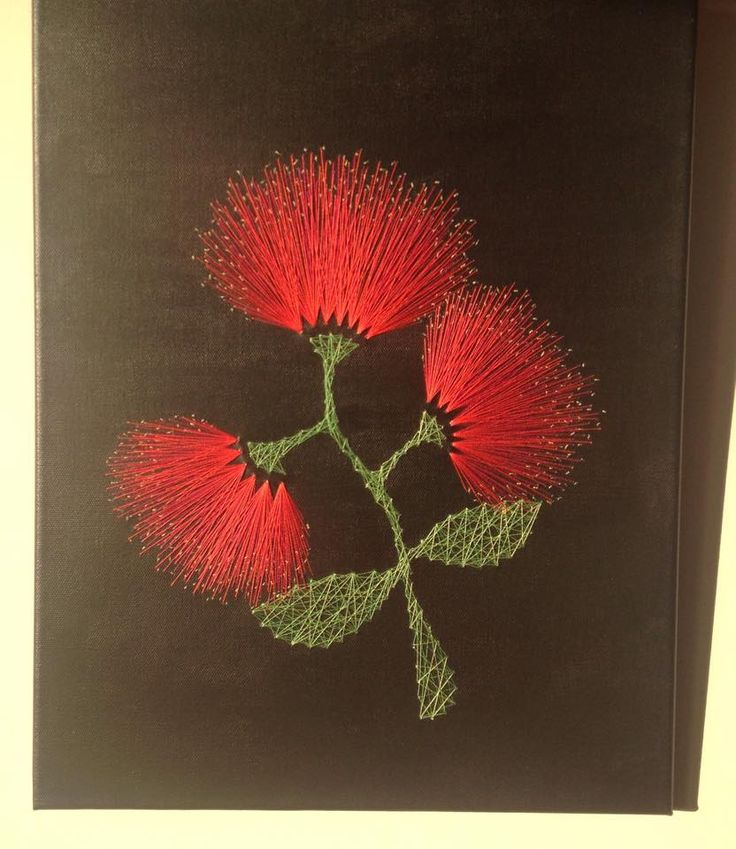 String Art pohutakawa for Mothers day