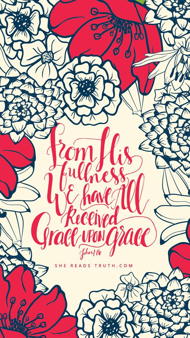 Grace Upon Bible Verse Wallpaper IphoneIphone