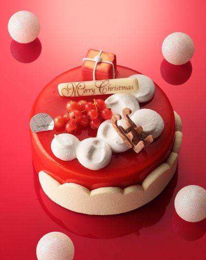 クリスマスケーキ赤