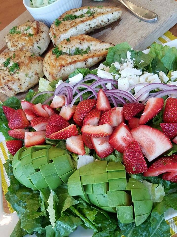 California Cobb Strawberry Salad http://cleanfoodcrush.com/california-cobb/