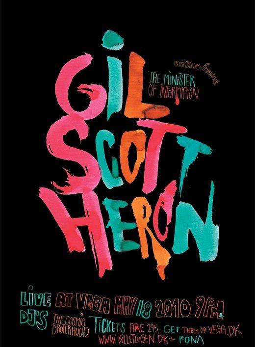 Gil Scott Heron  (font and colour scheme)