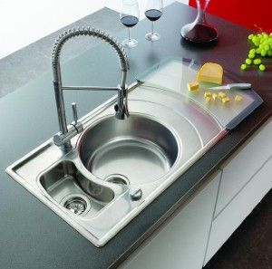 kitchen sink used in minimalist prep area kitchen sink simply kitchen sinks for the home pinterest stainless steel kitchen sink taps and design - Round Sinks Kitchen