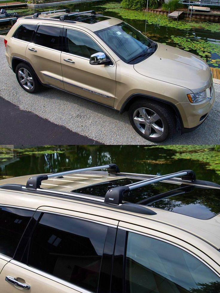 Thule AeroBlade Edge Roof Rack   Fixed Mounting Points/Flush, Factory Side  Rails   Aluminum   Silver. Thule Roof RackJeep Grand Cherokee ...
