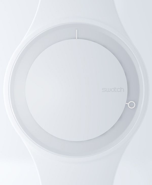 Details we like / Watch / White / Arms / Circular / Minimal / at IndustrialDesigners.co   Simone Savini for NOTdesignstudio - Swatch Hoop Concept