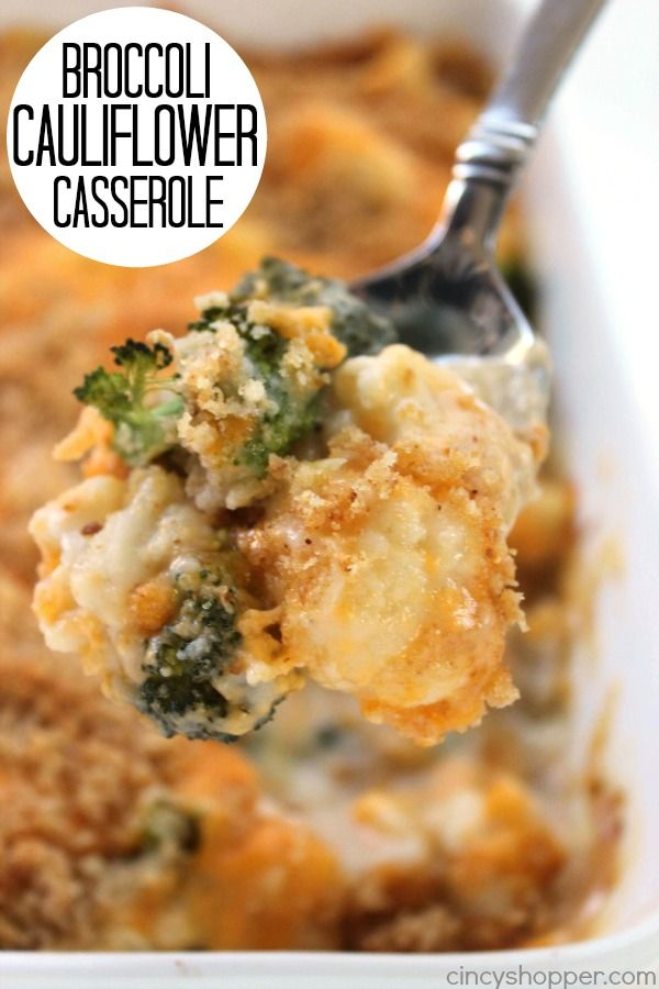 This Broccoli Cauliflower Casserole makes for an excellent side dish. You will find it both cheesy and creamy. Great for feeding a small crowd or perfect ad