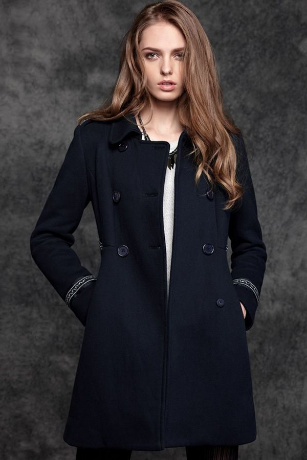 Classic Tribal Double-breasted Coat - OASAP.com