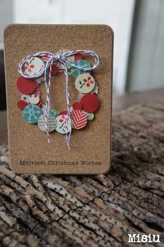 Merriest Christmas Wishes Wreath Card