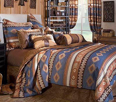Sierra Turquoise Bedding Comforter Sets Western Rustic