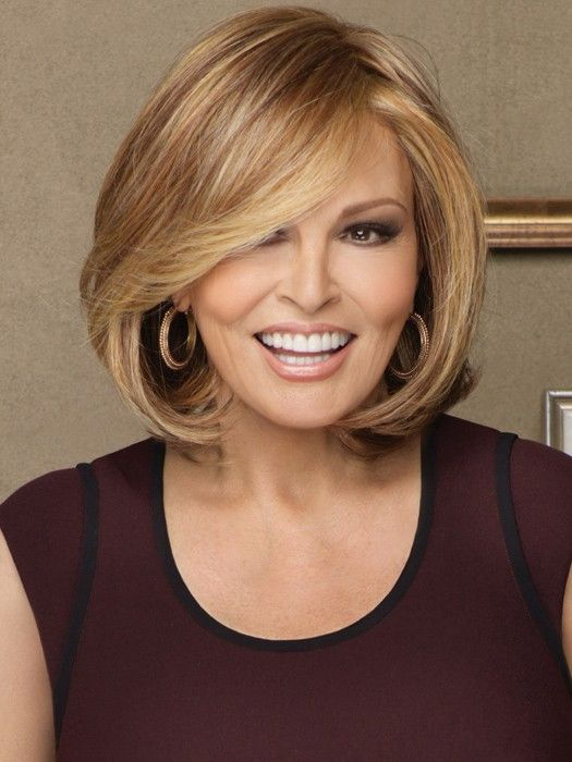 Upstage by Raquel Welch is the layered bob, perfected. It's defined by innovation, versatility and classic elegance. This sophisticated hairstyle features a 100% hand-tied cap, monofilament top and re