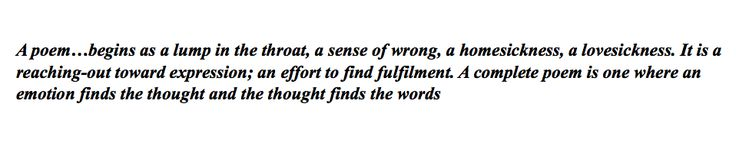 Robert Frost in a letter to Louis Untermeyer