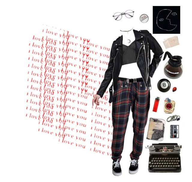 """""""Everything's in the negative, my cuticles hurt and all has left me."""" by dowdydoe ❤ liked on Polyvore featuring Versace, Hot Topic, Plane, CASSETTE, Hahn, Topshop, Leather, vans, deep and grunge"""