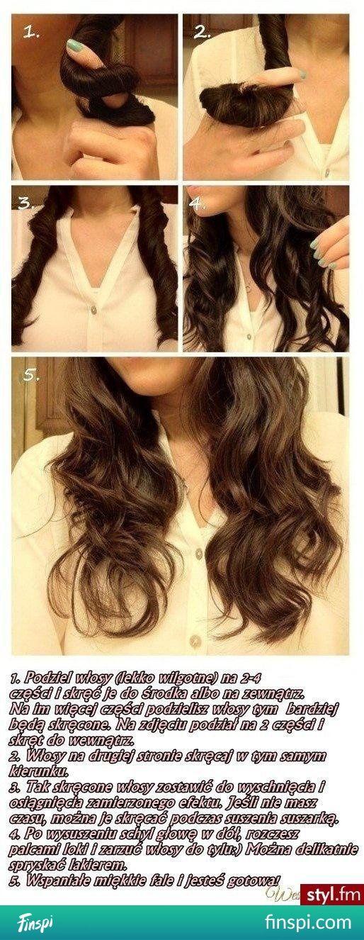 Prosty sposób na pokręcenie włosów nie niszcząc ich :) #uroda #fryzury #fryzura #kręcone