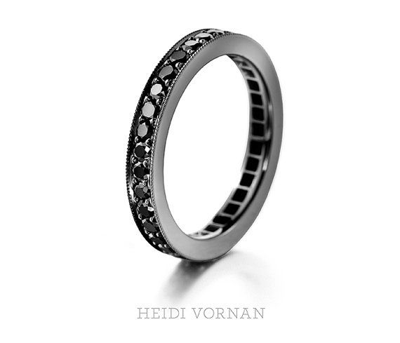 Handmade eternity wedding band from white goldwith by HeidiVornan