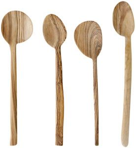 olive wood spoon - he looks at the natural from of the wood when deciding what to make. this is very similar to what my mom does