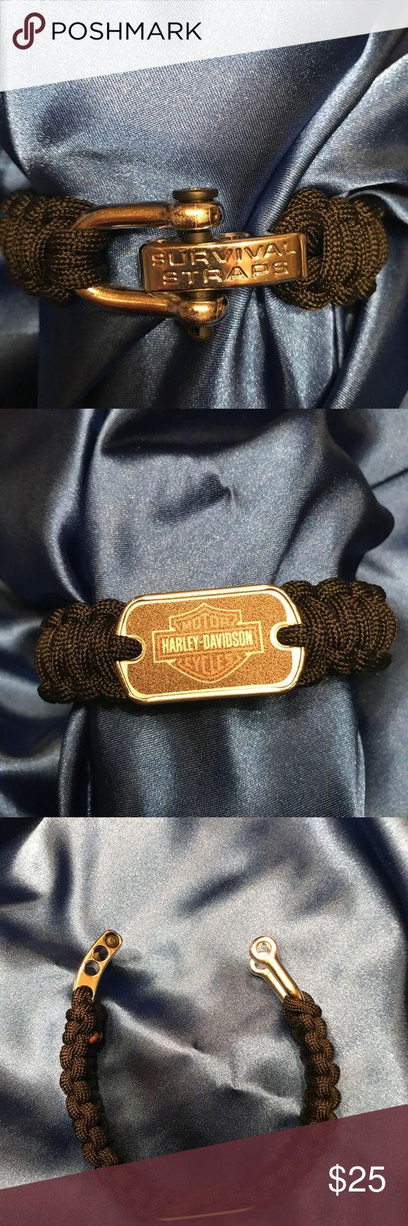 Harley Davidson Survival Strap Men's new Harley Davidson black survival strap bracelet Harley-Davidson Accessories Jewelry