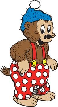 Rasmus Klump - popular Danish cartoon, in books and TV.