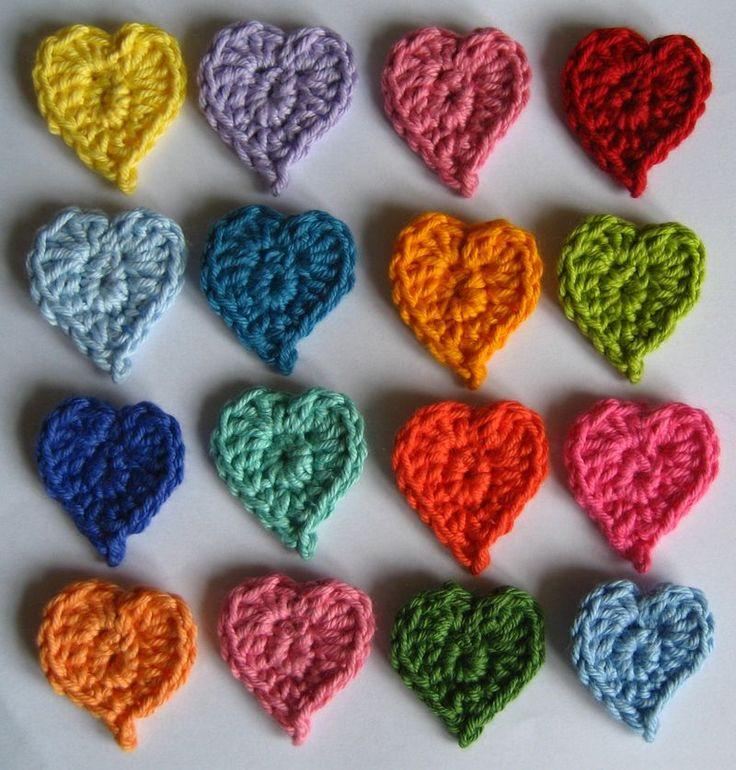DIY: crochet hearts: Craft, Free Pattern, Valentines, Color, Crochet Hearts, Crochet Patterns, Heart Pattern