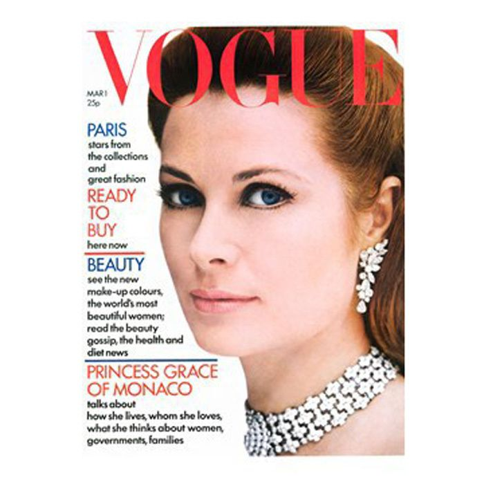 Princess Grace of Monaco looked regal on the cover of Vogue's March 1972 issue.