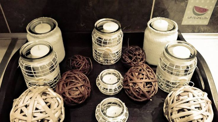 Candles decorations.  Made from recycable materials