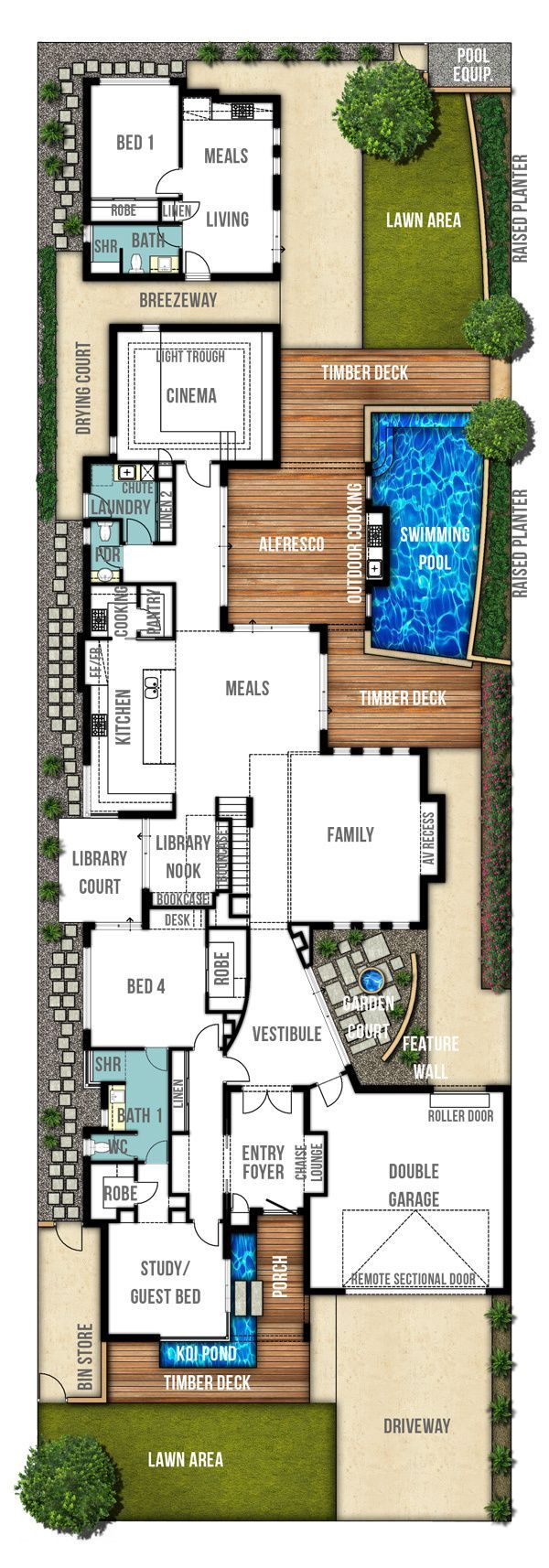 two storey home plans - ground floor design