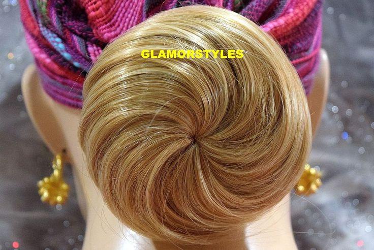 BLONDE BUN WEDDING HAIR PIECE PONYTAIL HAIRPIECE EXTENSION SCRUNCHIE CLIP IN/ON  #Glamorstyles #Bun