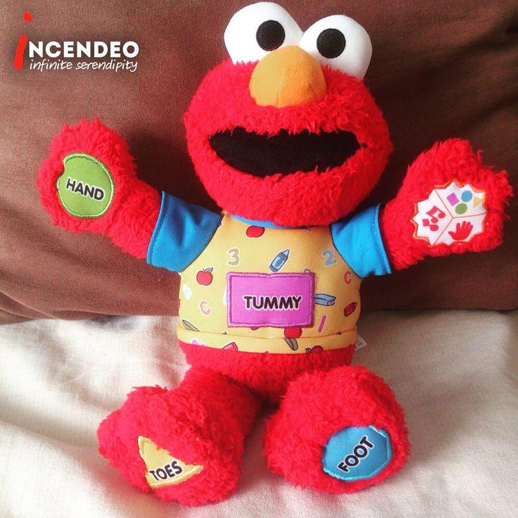 Fisher Price Sesame Street Elmo, learning body parts, color, shape and singing. #fisherprice #mattel #sesamestreet #elmo #toy #toddler #preschool #plush #softie #play #fun #kids #learning #talking #singing #incendeo #infiniteserendipity #玩具