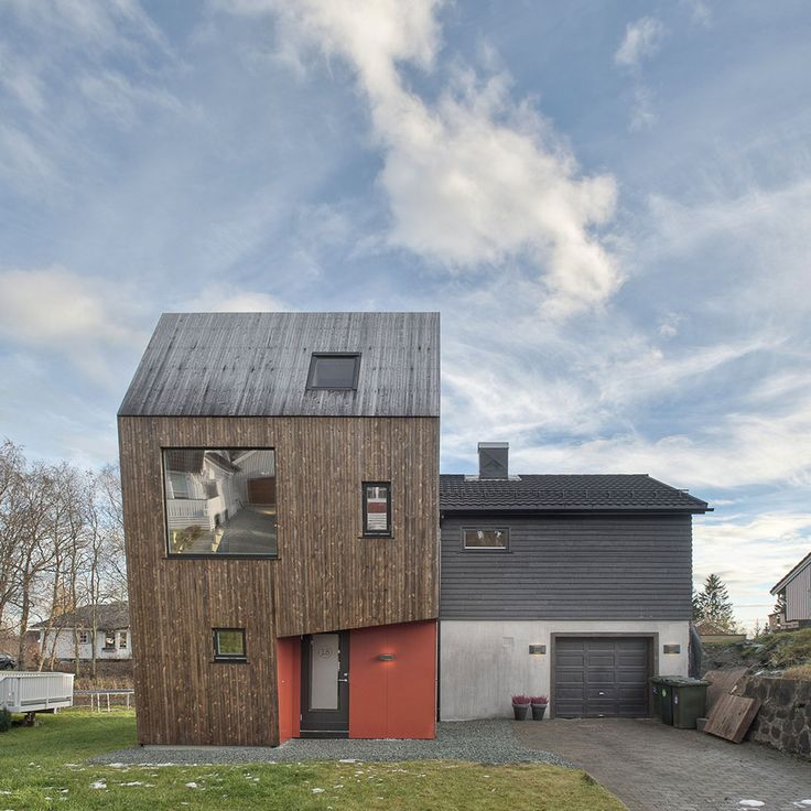 Arne Garborgsvei 18 House by TYIN Tegnestue 1 Asymmetric Modern House in Norway for a Family of Four