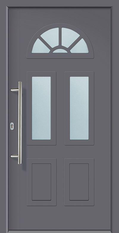 Akuri Aluminium Eingangstür Alu Haustür mit 3-fach Verglasung   Aluminiumtür   Türenkontor