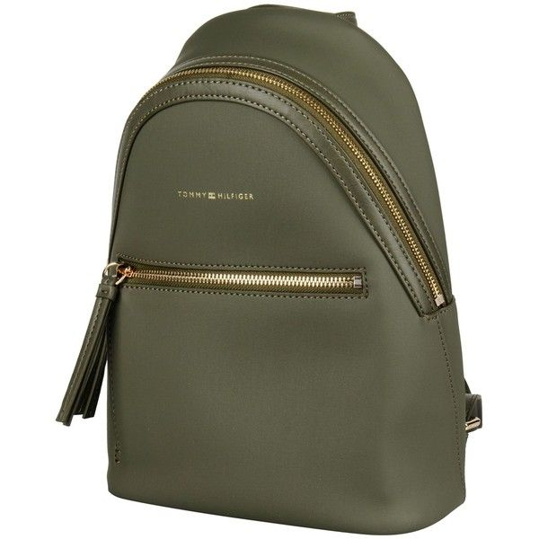 Tommy Hilfiger Rucksacks & Bumbags (18515 ALL) ❤ liked on Polyvore featuring bags, handbags, military green, day pack backpack, pvc handbags, tommy hilfiger handbags, olive green handbag and olive green backpacks