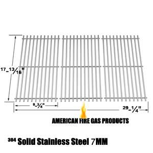 STAINLESS STEEL COOKING GRID FOR MASTER FORGE P3018, MFA550CBP AND DUCANE 4100, AFFINITY 31421001, AFFINITY 4100, AFFINITY 4200 GAS GRILL MODELS, SET OF 3