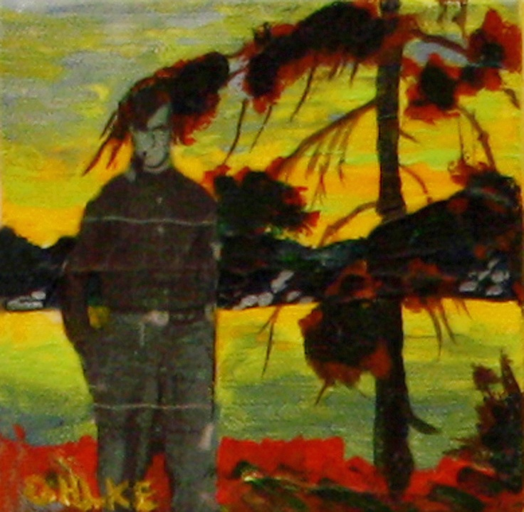 Jacks are Wild  - Tom Thomson in Algonquin Park - Mixed Media on Canvas  Katie Ohlke