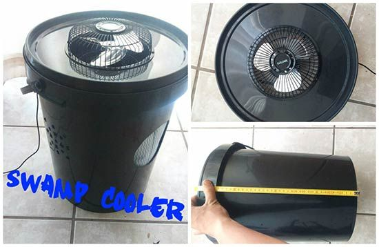 A DIY swamp cooler is made with a 5-gallon bucket. Water and ice will be used as the refrigerant and the cool air is being dispersed by using a small electric fan. All you need to do is assemble all the parts to make a DIY air conditioning unit