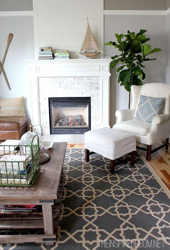 Fiddle Leaf Fig Living Room RugsLiving