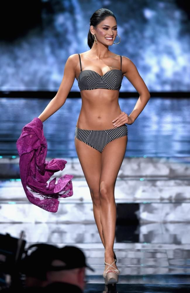 Miss Philippines 2015, Pia Alonzo Wurtzbach, competes in the swimsuit competition during the 2015 Miss Universe Pageant on December 20, 2015 in Las Vegas. Picture: Getty