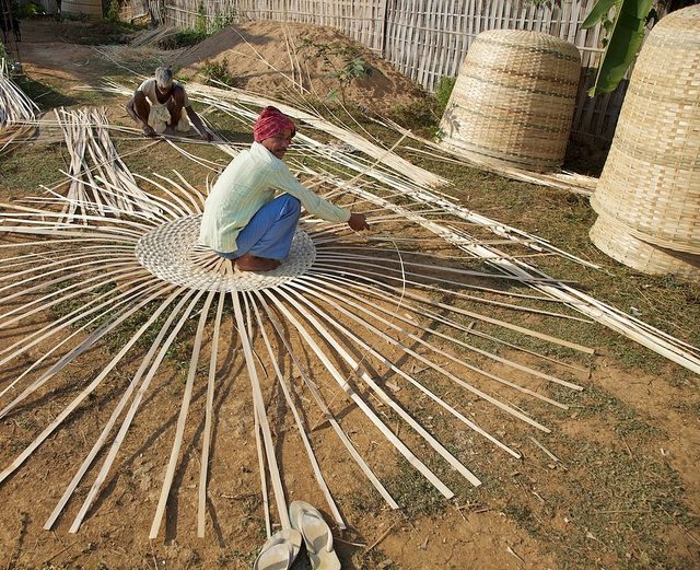 Basket weaving, Assam, India by Michael Foley Photography, via Flickr