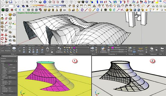 How to create array of objects through Sketchup and CAD: http://www.sketchup4architect.com/how-to-create-array-of-objects-through-sketchup-and-cad.htm