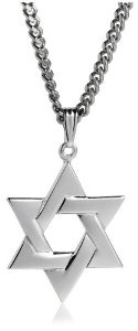 #9: Men's Sterling Silver Star of David Pendant, 24