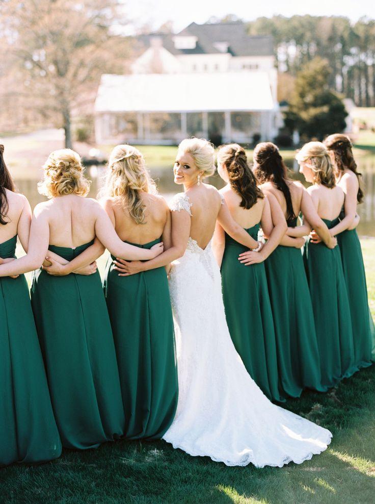 Elegant Emerald + Gold Military Wedding