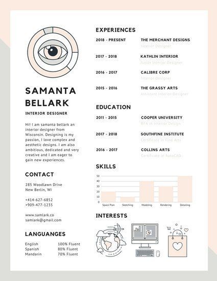 70 best resume images on pinterest infographic resume mint
