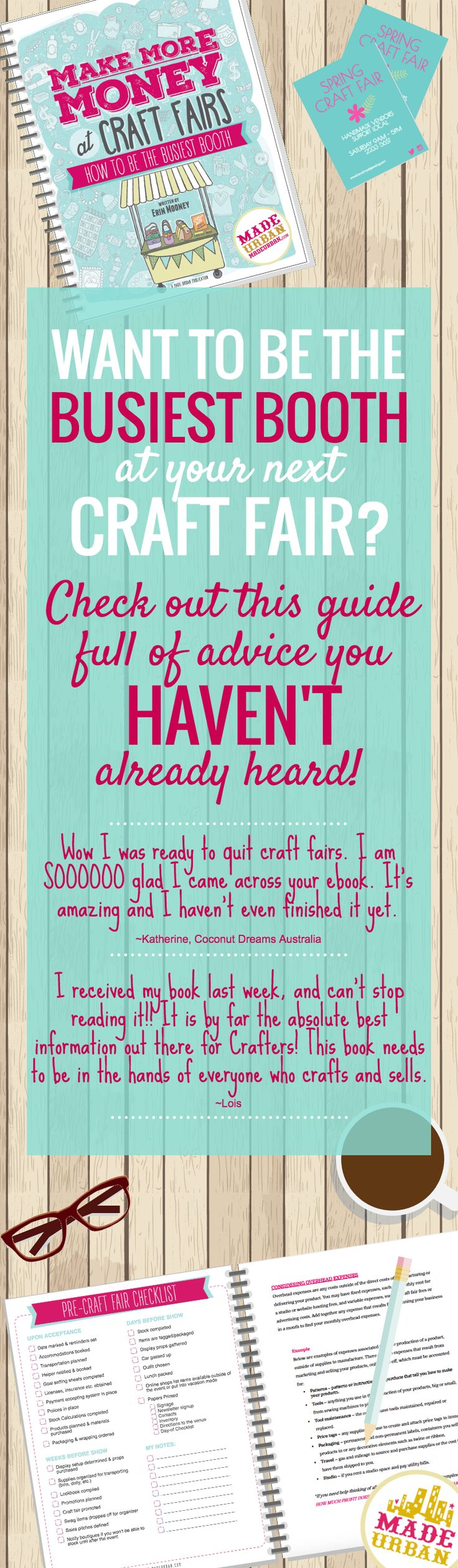 A start to finish guide for handmade sellers looking to make more money at craft fairs | MADE URBAN