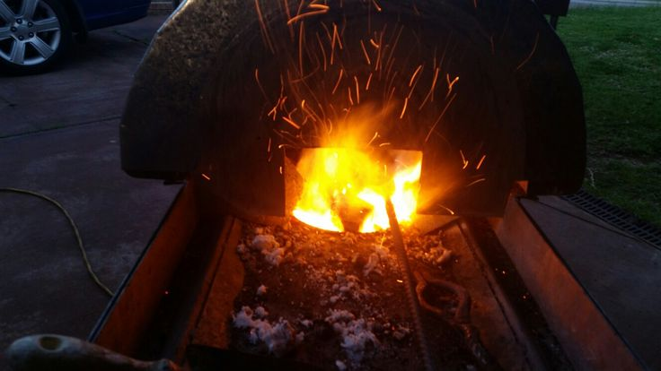 My home built hardwood charcol forge