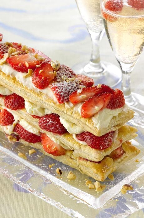... Toasted Hazelnuts, Cointreau and Strawberry Mascarpone Cream Filling