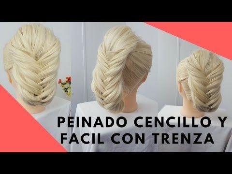 PEINADO SENCILLO Y FACIL CON TRENZA | DIANA ROJAS - YouTube