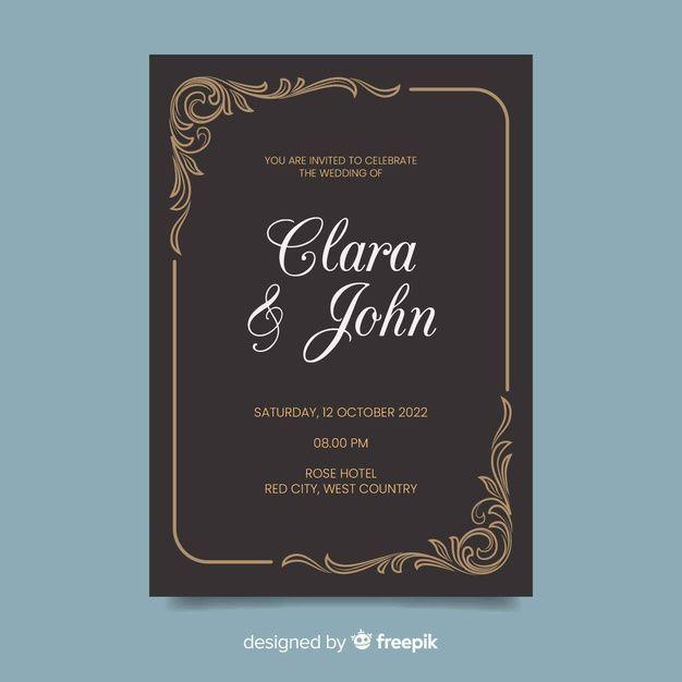 Download Retro Wedding Invitation Template For Free Retro Wedding Invitations Retro Wedding Wedding Invitation Templates