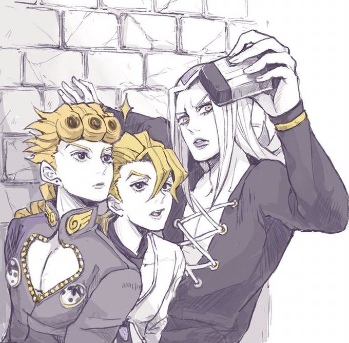 Doubt He D Ever Want A Picture With Giorno In It But Hey If It Involves Cheese Child Im There ジョジョ 5部 かわいいイラスト イラスト