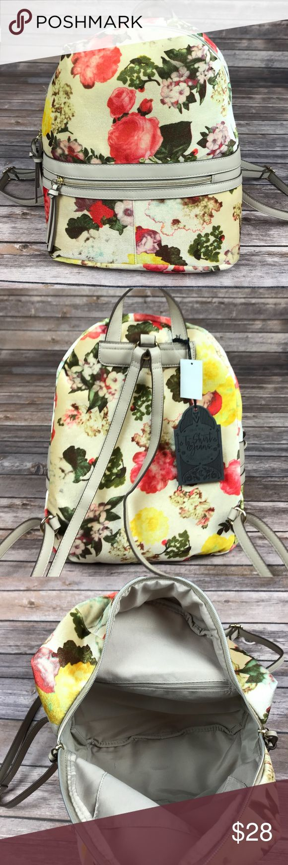 T-Shirt and Jeans Floral Cream Backpack -Brand New With Tags -Cute Foral Pattern -Great for Fall! -Don't Like The Price? Send Me An Offer! Tshirt and Jeans Bags Backpacks