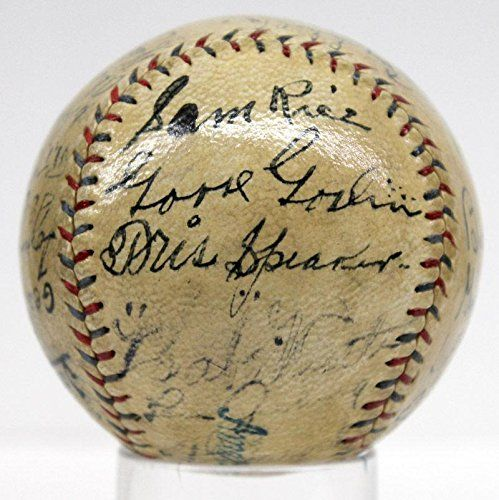 Babe Ruth Ty Cobb Gehrig Johnson Speaker Signed Autographed Baseball 73646 - JSA Certified - Autographed Baseballs -- You can find more details by visiting the image link.